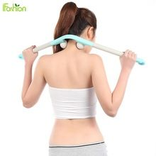 Neck Massager Stick with trigger point massage ball Manual Hammer Massage Roller for Fitness Masaje Health Care Multifunction //Price: $US $11.37 & FREE Shipping //