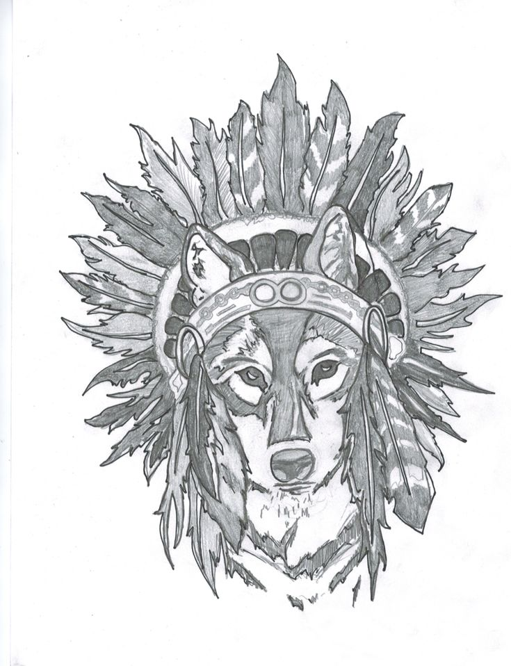 Bear headdress drawing - photo#36