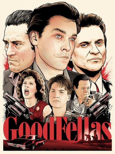 goodfellas screen print poster by joshua budich mondo s n