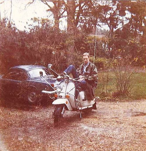 A mod and his scooter, 1979.