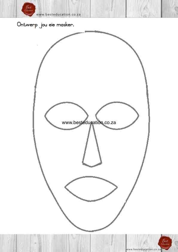 Ontwerp jou die masker Kuns Graad 6 - www.besteducation.co.za