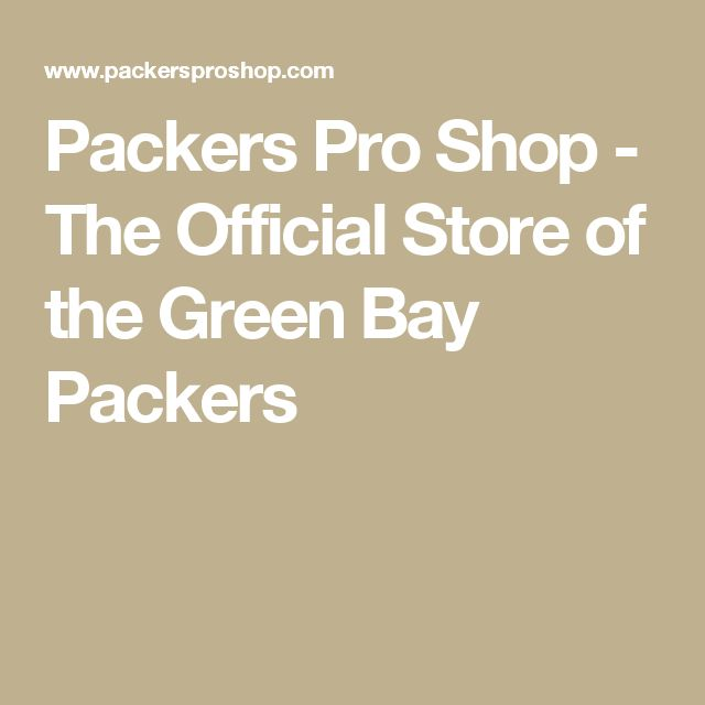 Packers Pro Shop - The Official Store of the Green Bay Packers