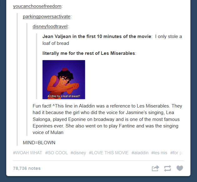 IT REALLY WAS A REFERENCE TO LES MIS--Never thought of this but makes perfect sense