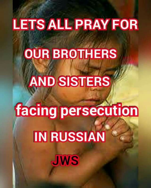 Let's all pray for our brothers and sisters facing persecution in Russia.