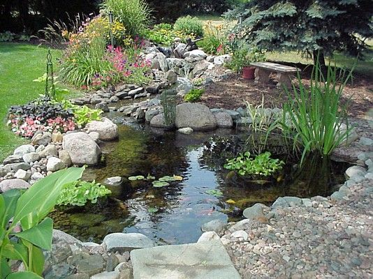 49 best images about fountains ponds water features on for Great garden ideas