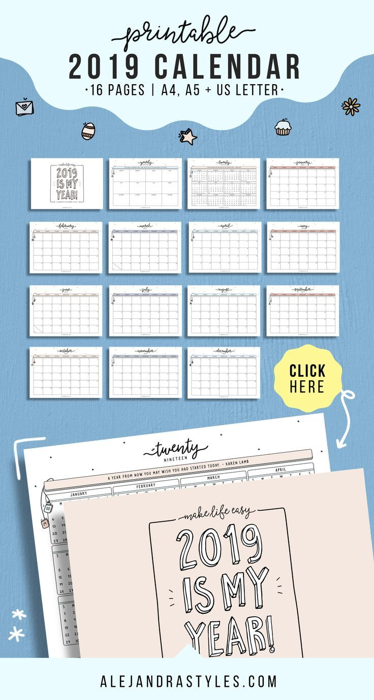 2020 Printable Calendar Wall Calendar Desk Calendar 12 Monthly