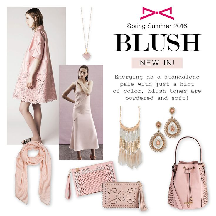 Emerging as a standalone pale with just a hint  of color, blush tones are powdered and soft!
