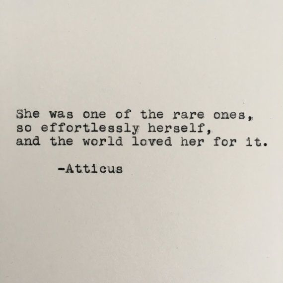 Atticus Quote Typed on Typewriter - 4x6 White Cardstock