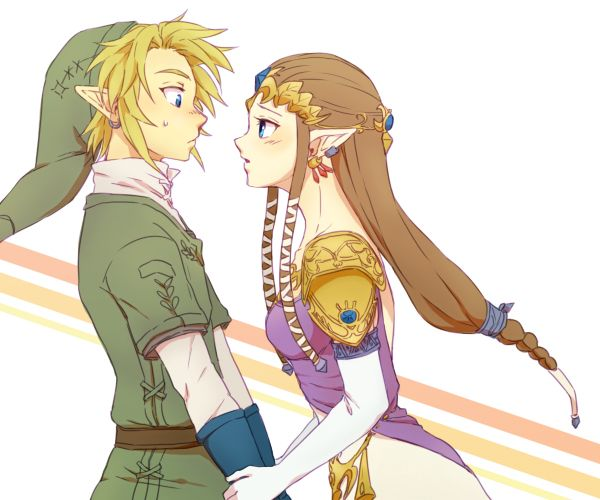 the legend of zelda twilight princess, link and zelda