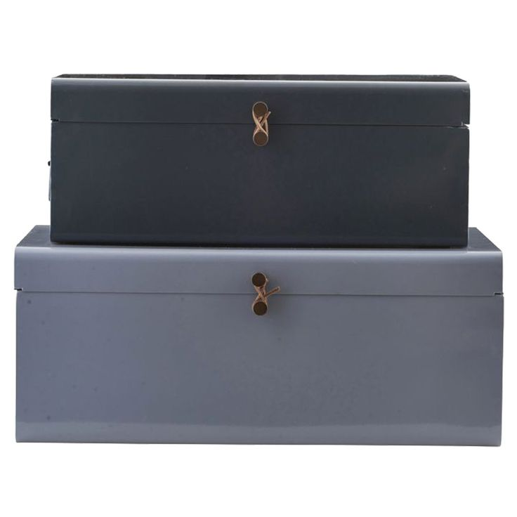 Metal opbevaringskuffer fra House Doctor. To rektangulære skuffer i forskellige størrelser med fint ...