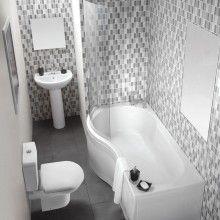 Klassische Duschbadewanne Knedlington Geschwungen mit Waschtisch und Toilette, erhältlich bei http://track.webgains.com/click.html?wglinkid=297885&wgcampaignid=167063