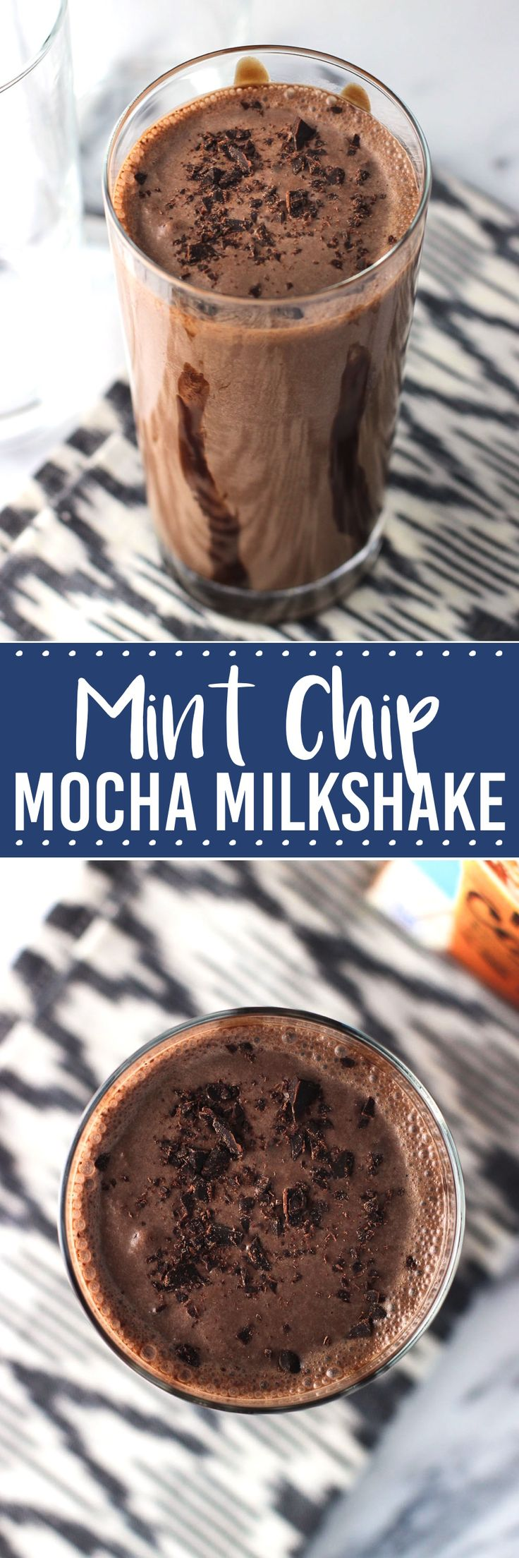 Mint Chip Mocha Milkshake - a delicious, frosty milkshake using iced coffee, chocolate ice cream, and more! ad