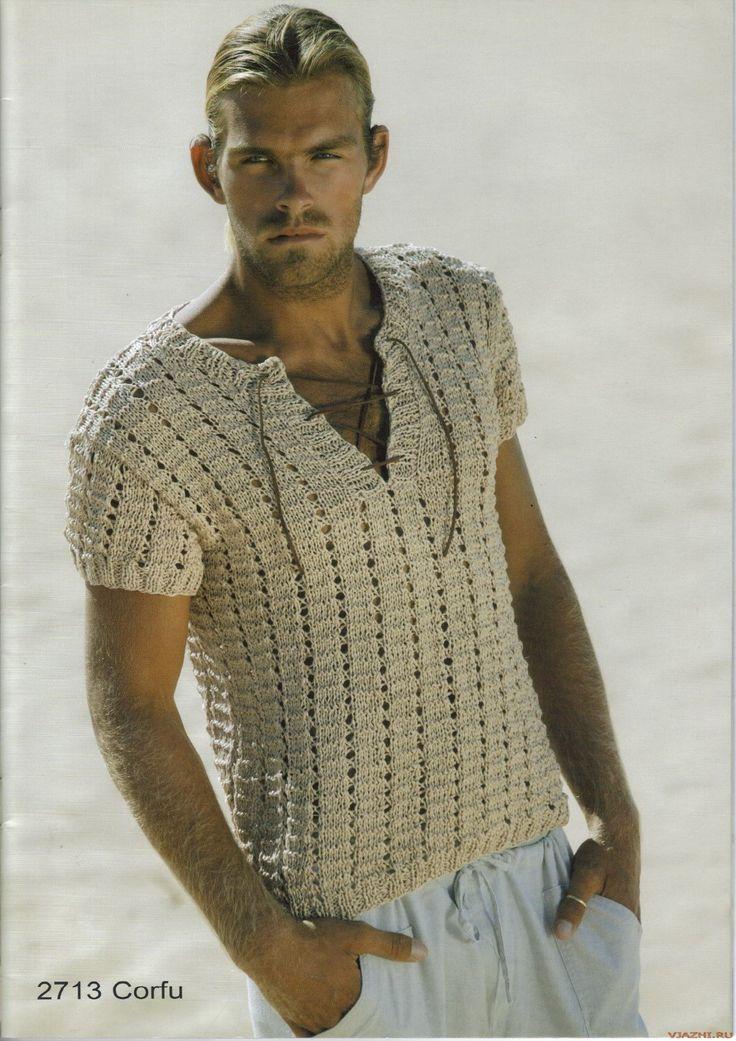 Мужская футболка спицами. Обсуждение на LiveInternet - Российский Сервис Онлайн-Дневников