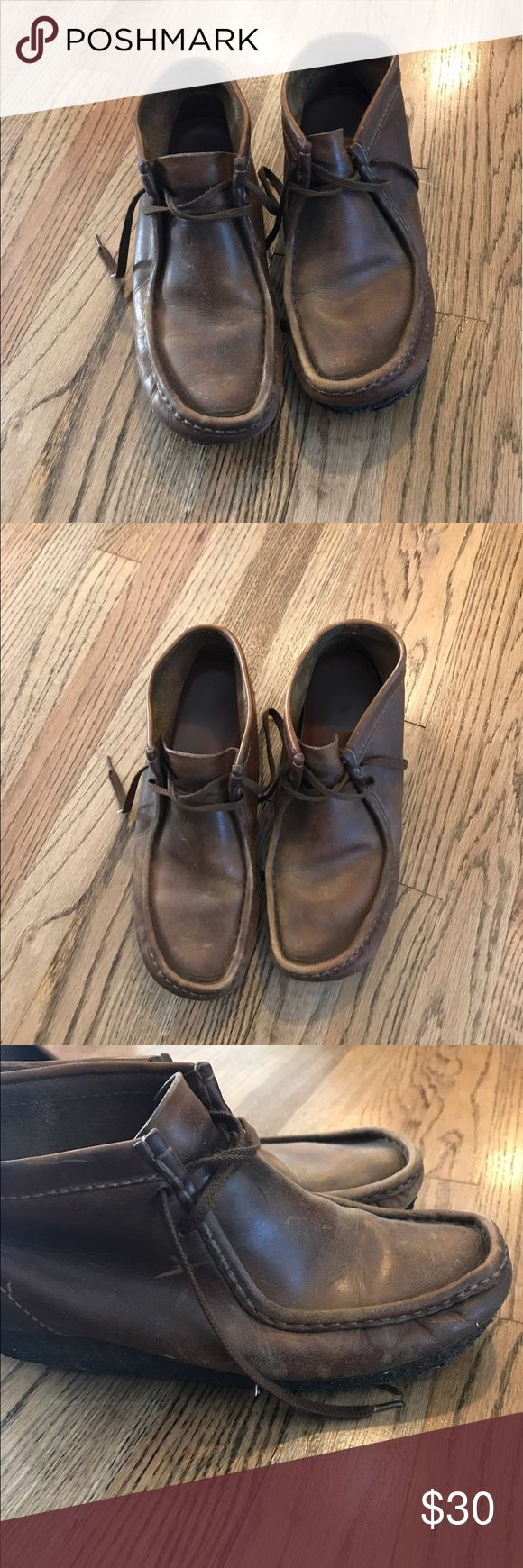 Clarks Wallabee Boot Tan Leather Good condition but are still in great shape Clarks Shoes Boots