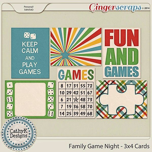 """FREE GingerScraps DSD 2014 """"Family Game Night"""" Facebook Hop : By CathyK Designs"""