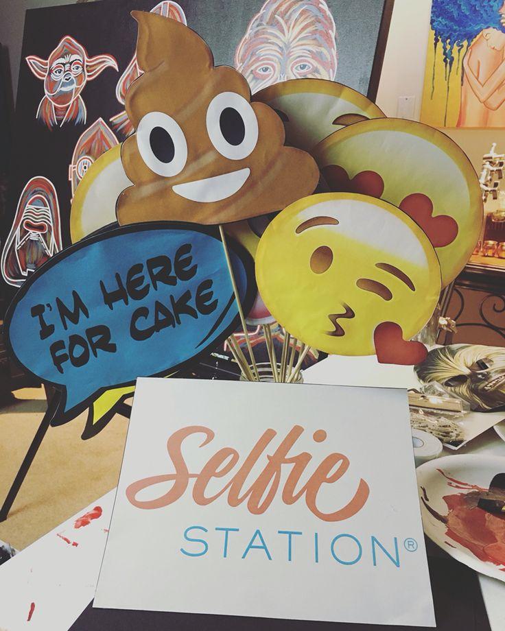Emoji photobooth props.