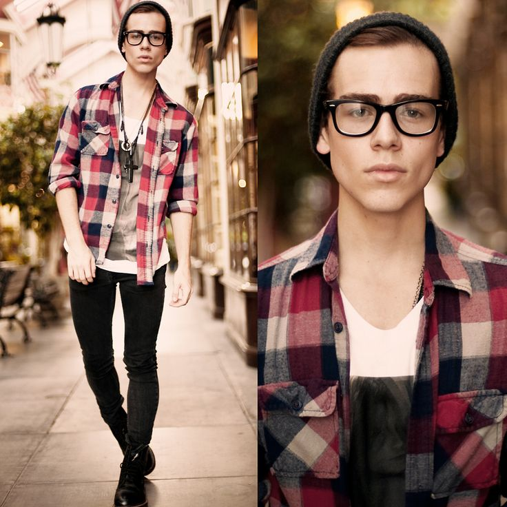 Hipster boys can totally be cute if they wear it right.