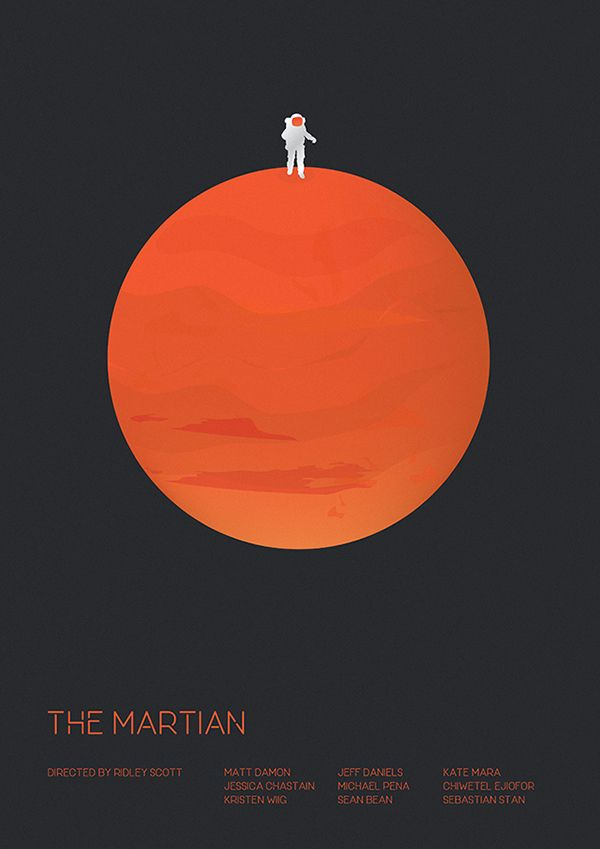 The Martian - minimal movie poster - Matt Needle. I have already posted the film The Martian. I came across this poster and I really liked it. I hope you like it too!