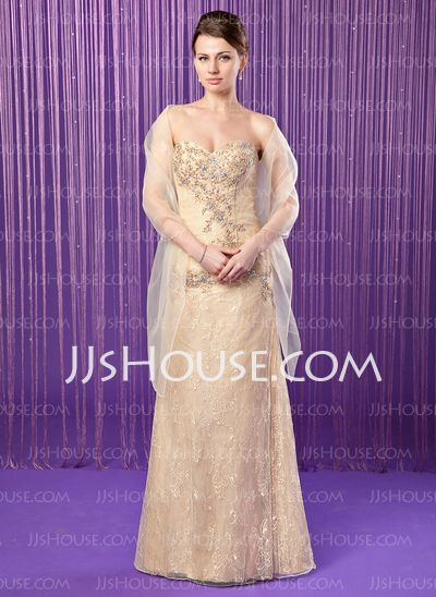 Mother of the Bride Dresses - $168.99 - Sheath Sweetheart Floor-Length Taffeta Lace Mother of the Bride Dress With Beading Sequins (008018739) http://jjshouse.com/Sheath-Sweetheart-Floor-Length-Taffeta-Lace-Mother-Of-The-Bride-Dress-With-Beading-Sequins-008018739-g18739