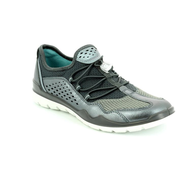Get your ladies ecco trainers online now at Begg Shoes and Bags. Pewter ecco sneakers: www.beggshoes.com  #ecco #eccoshoes #sneakers #trainers