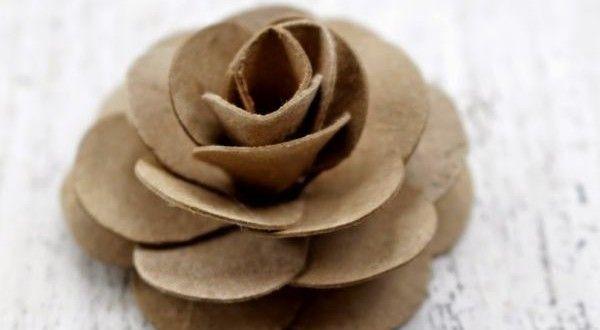 Rosa de Rolo de Papel Higiênico Passo a Passo   Reciclagem no Meio Ambiente – O seu portal de artesanato com material reciclado