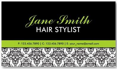Elegant Floral Pattern Stylist Salon Hairdresser Business Card Template