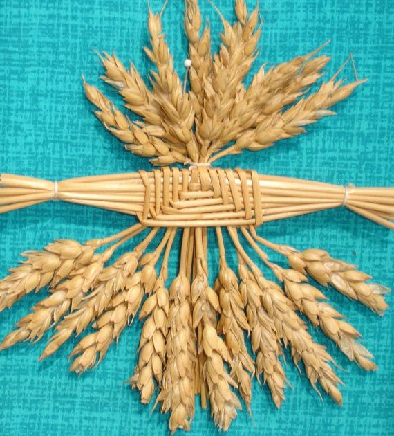 how to make a corn dolly with art straws