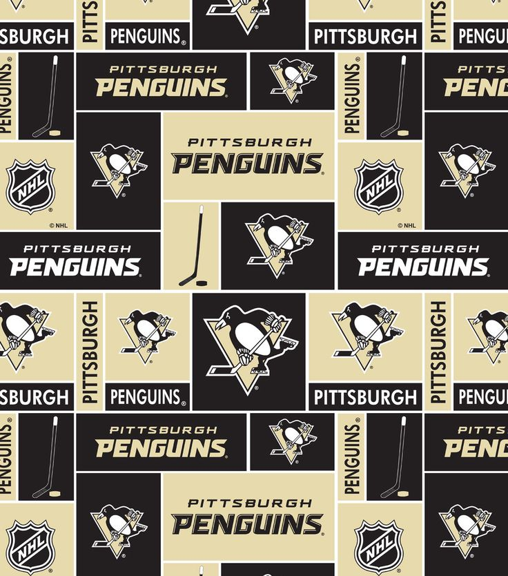"Pittsburgh Penguins Cotton Fabric 43"" - Block"