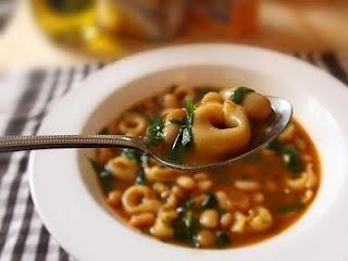 Pasta e fagioli with tortellini. I LOVE pasta fagioli