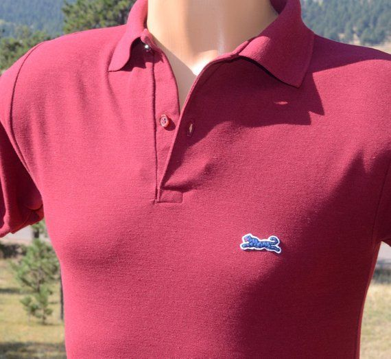 Vintage Men/'s Cross Creek Brown White Striped Polo Short Sleeve Shirt 1970/'s 1980/'s Size Large!