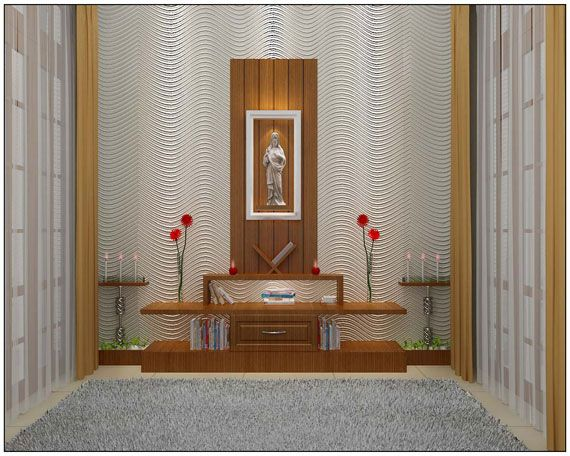 Prayer room best architects in kerala interior design for Christian decorations for home
