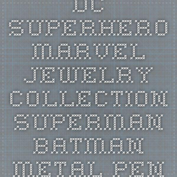 DC Superhero Marvel Jewelry Collection Superman Batman Metal Pendant Necklace – Easy Faishon