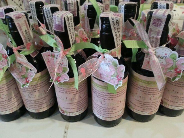 Recuerditos de nacimiento decoraci n de botellas de vino - Decoracion de botellas ...