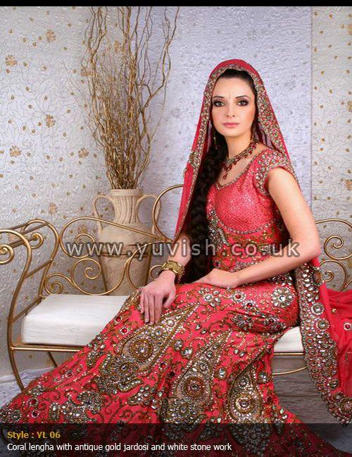 traditionalbridal#corallengha#antiquework#indianbride#pakistanibride#yuvishdesignerwear#silk#gorgette