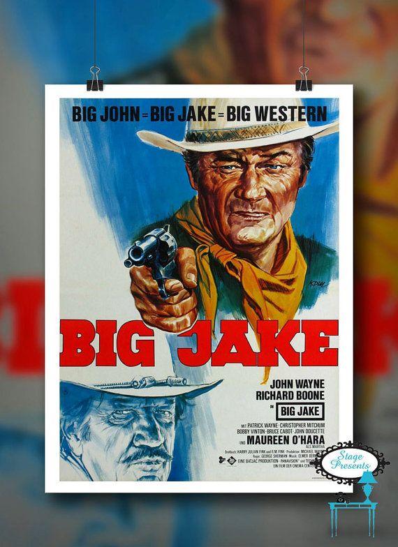 """Vintage John Wayne In Big Jake Movie Poster Reproduction - 11""""X17"""" - Wall Art Print - Wall Poster"""