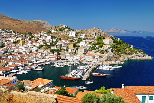 Harbor of Hydra  by www.hydra.gr/en/