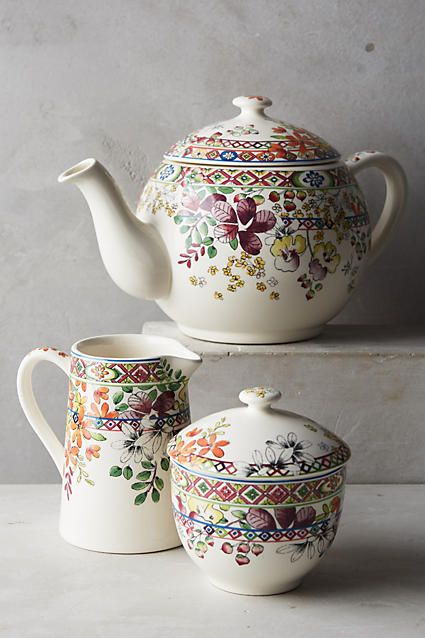 Gien Bagatelle Teapot - anthropologie.com