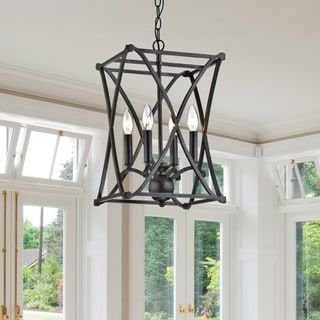 Shop for Joshua Antique Black Iron X-shape Square Chandelier. Get free shipping at Overstock.com - Your Online Home Decor Outlet Store! Get 5% in rewards with Club O! - 19899063