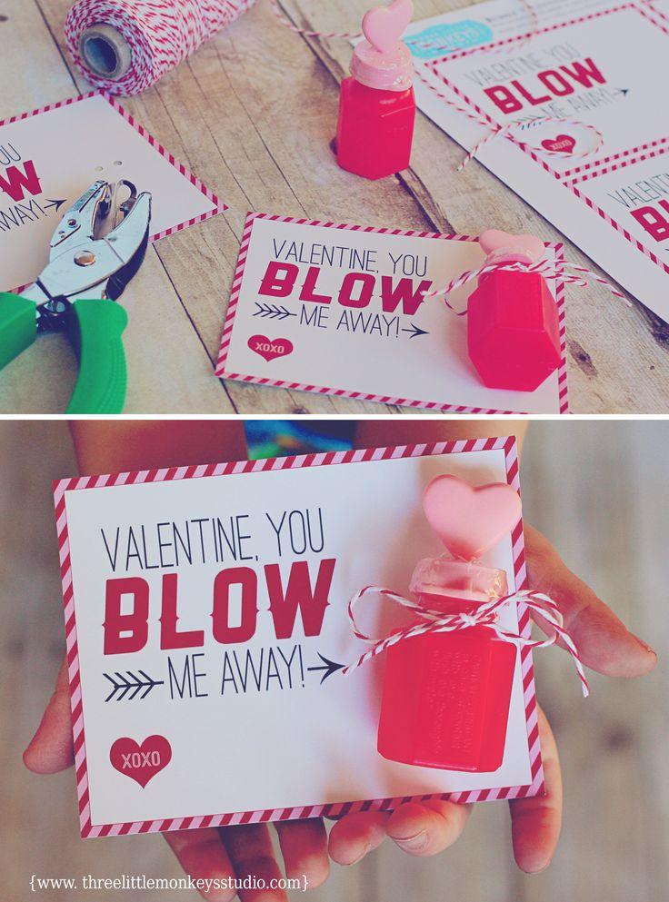 6 Candy-Free Valentine Ideas for Kids + FREE Printables by threelittlemonkeysstudio.com
