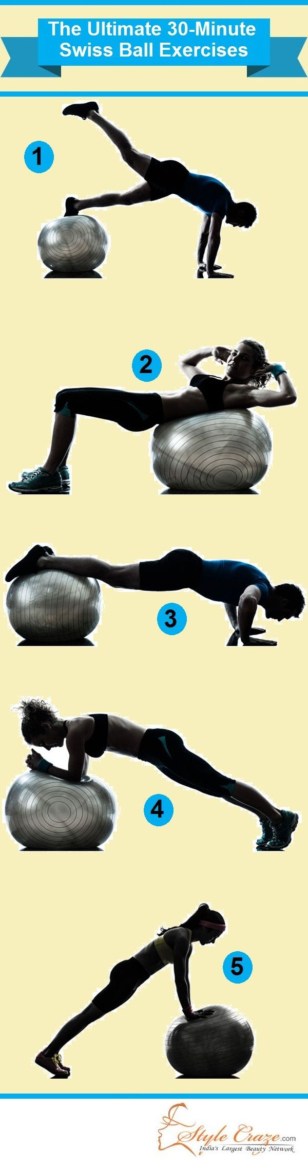 Types Of Swiss Ball Ab Exercises 35