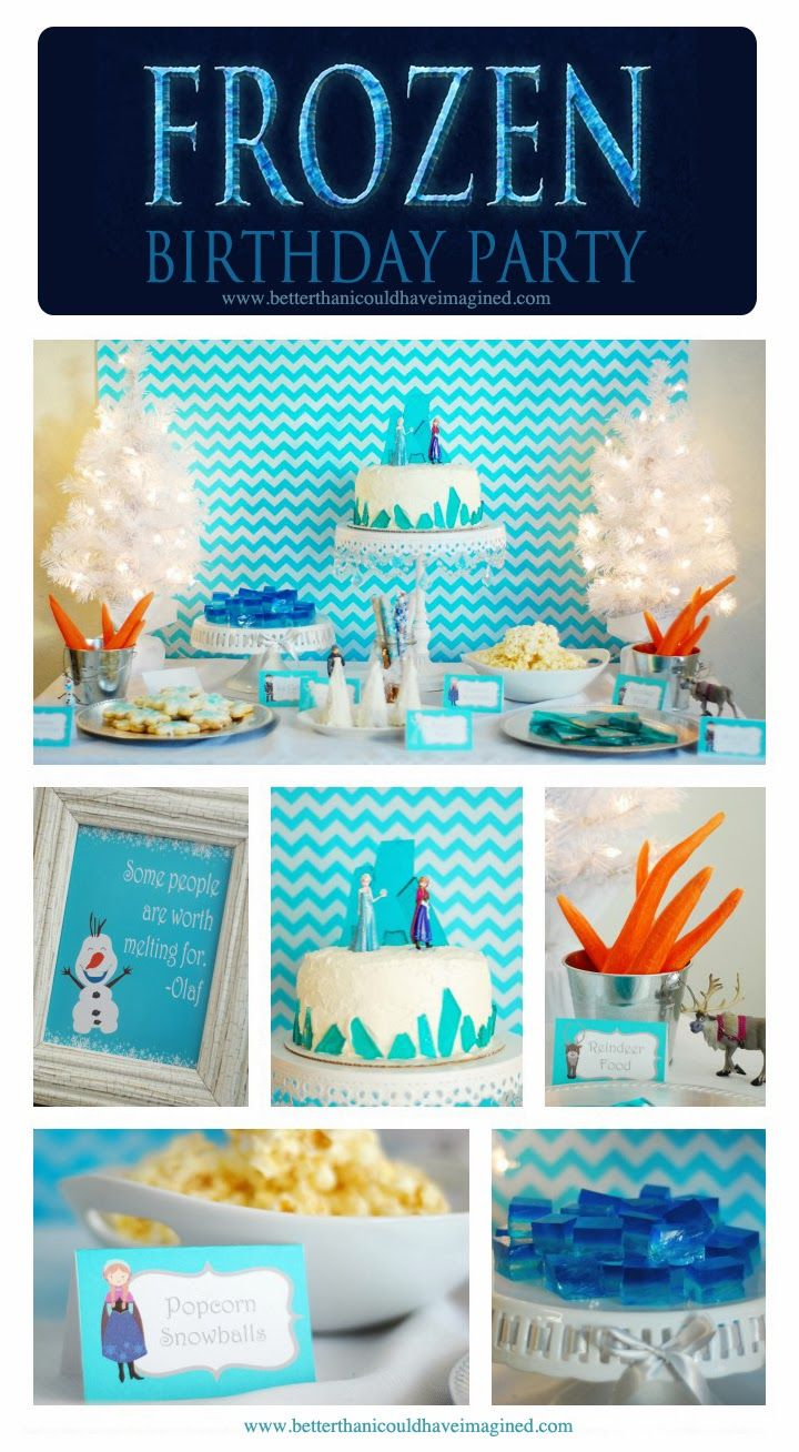 better than i could have imagined: Grace's Frozen Birthday Party - lots of great ideas