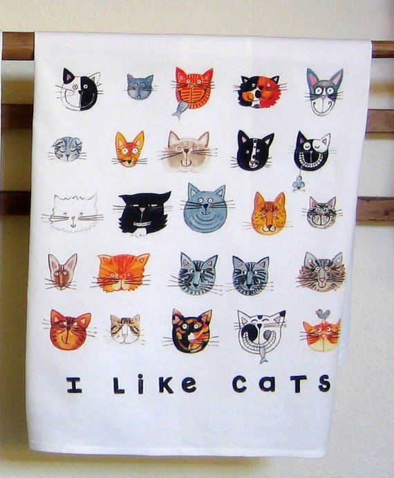 Cats Kitchen Towel Etsy Cat Dad Gifts Cat Lover Gifts Cat Themed Bedroom