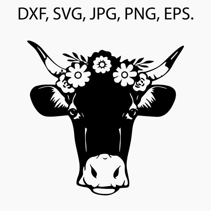 Download Cow head SVG - PNG - JPEG - Dxf Download / File for T ...