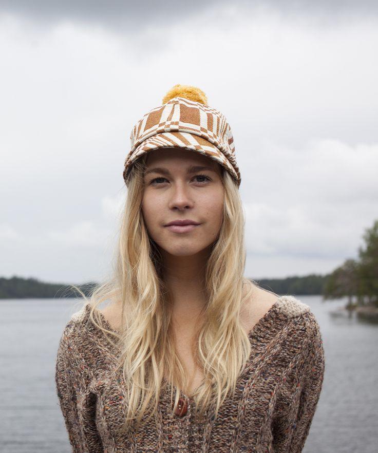 Kombai Hat in Johanna Gullichsen's woven fabric. Photographed by Teemu Kammonen for COSTO.