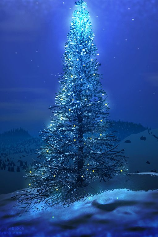 blue christmasXmas Trees, Beautiful Blue, Winter Trees, Blue Christmas, Blue Lights, Christmas Lights, Christmas Eve, Christmas Trees, The Holiday