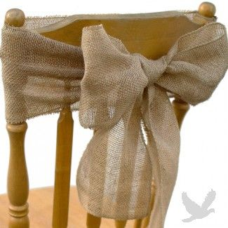 Vintage Rustic Burlap Chair Sash NEW!: Burlap Chairs Sash, Idea, Dresses Up, Ribbons, Chairs Bows, Vintage Rustic, Burlap Bows, Chairs Covers, Burlap Chair Sashes