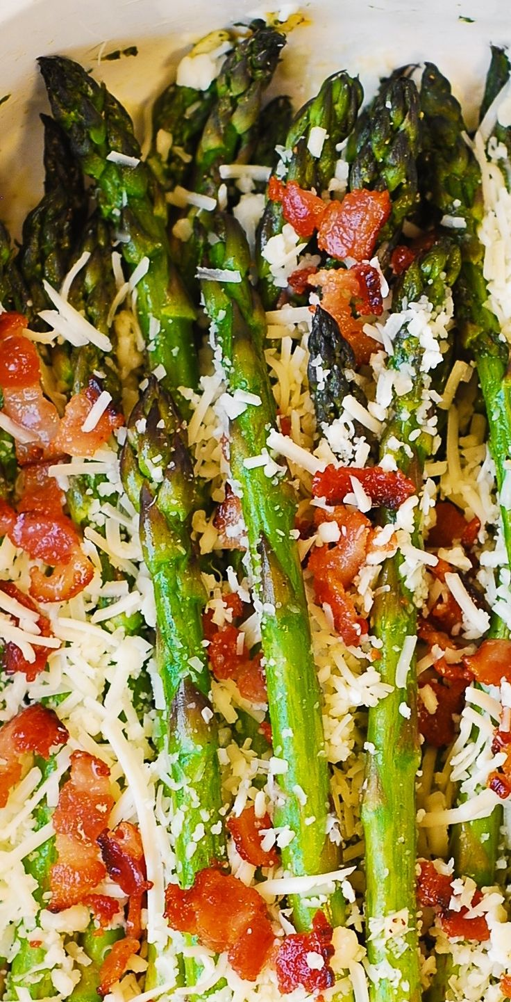 Asiago Cheese, Bacon, And Garlic Roasted Asparagus  The Best Way To Cook  Asparagus