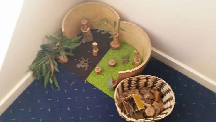 Home made wooden blocks and fallen tree branches, curved blocks..