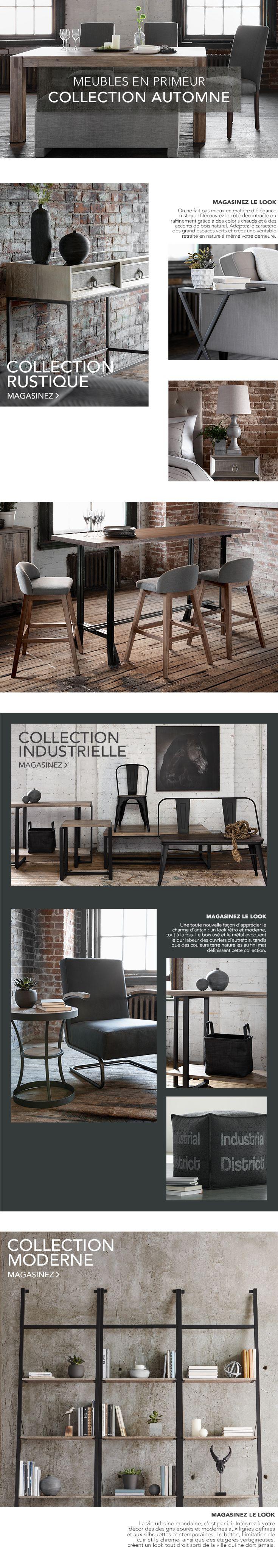 Découvrez en primeur notre collection d automne de meubles selon les tendances rustiques industrielles