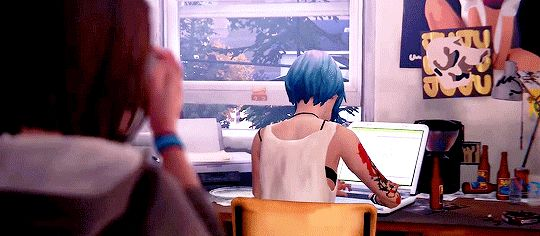 I've never been so glad to see Chloe in my life. The second I saw her blue hair and that beautiful pissed off face I wanted to kiss her again.